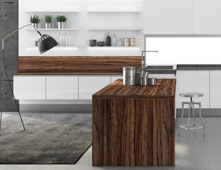 reforma cocina blanca madera
