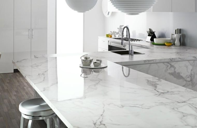 encimera de cocina de marmol